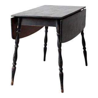 Antique Black Drop Leaf Table For Sale
