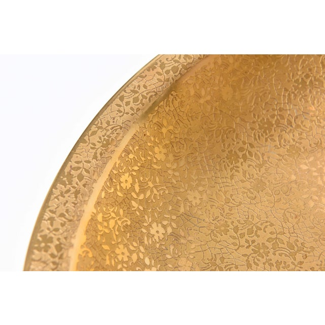 Gold Pair of Gold Decorated Serving Bowls For Sale - Image 8 of 11