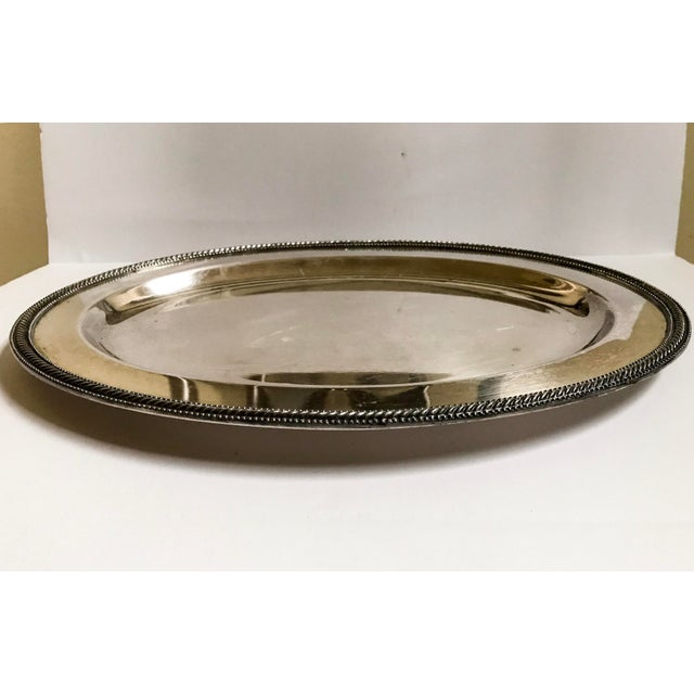 Metal Silverplate Tray - Vintage For Sale - Image 7 of 7