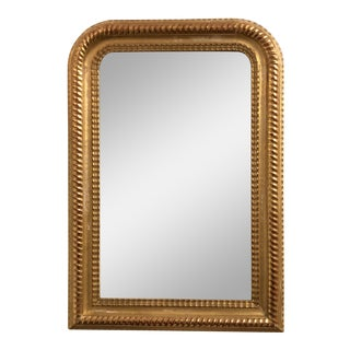 19th Century Louis Phillipe Carved Gold Tone Mirror