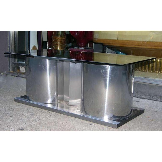 1970s Italian Smoked Glass Coffee Table With Dry Bar For Sale In New York - Image 6 of 8