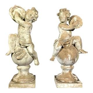 1950s Italian Puti Garden Statues - a Pair For Sale