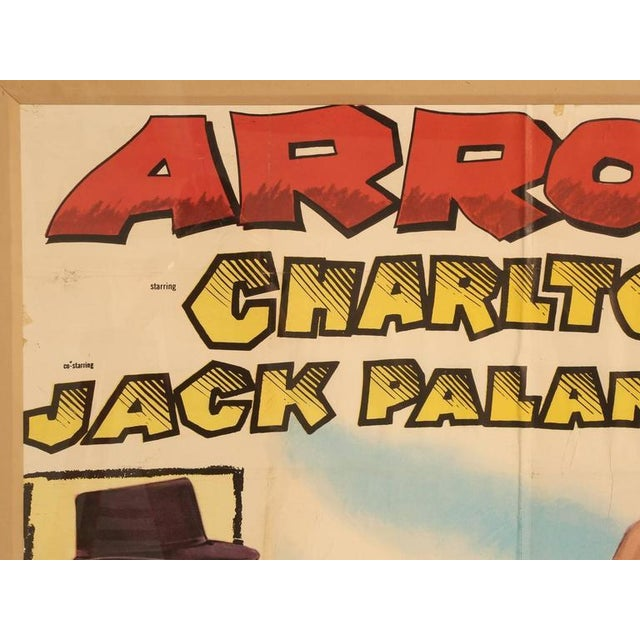 Traditional Movie Poster of Arrowhead starring Charlton Heston, circa 1953 For Sale - Image 3 of 11