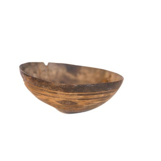 Vintage African Wooden Bowl For Sale