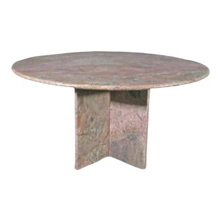 1980's Post Modern Marble Table For Sale