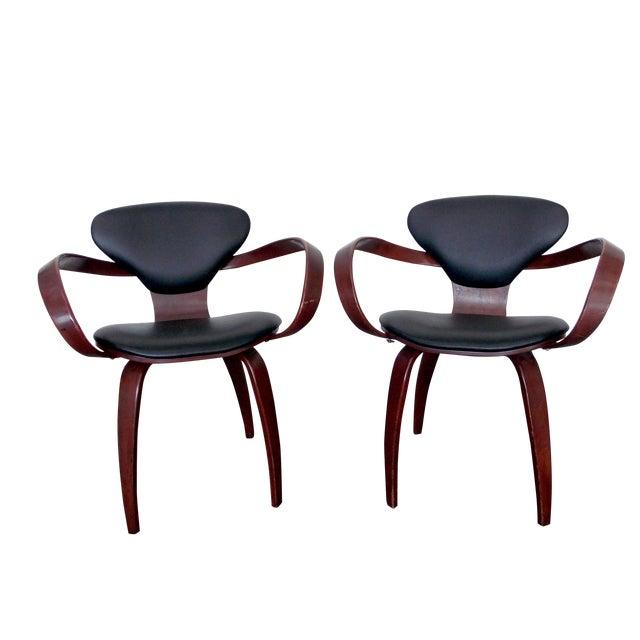 Bentwood Pretzel Arm Chairs - A Pair For Sale