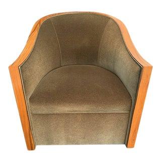 Modern Randolph & Hein Velvet Swivel Chair For Sale