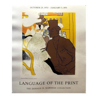 1970 Original American Exhibition Poster, Language of the Print: The Donald H. Karshan Collection - Toulouse-Lautrec (After)