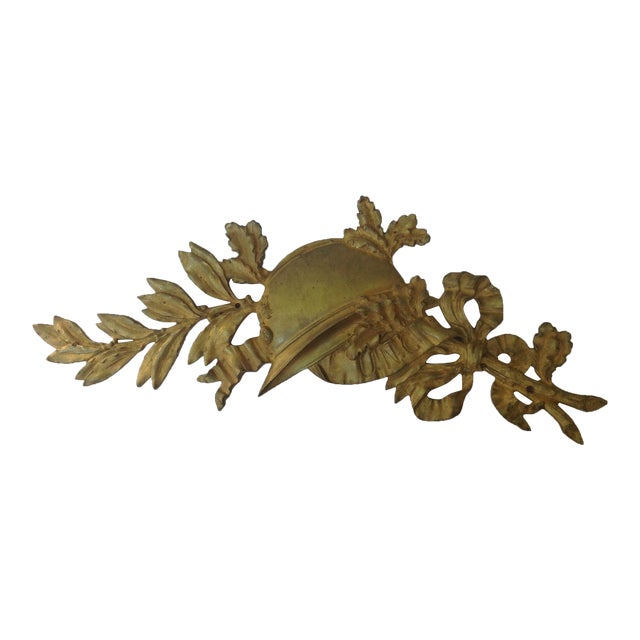 French Gilt Bronze Wall Plaque For Sale