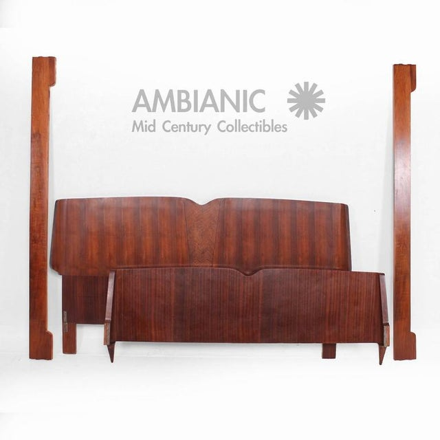 Mahogany Mid-Century Modern Italian Bed Frame For Sale - Image 7 of 9