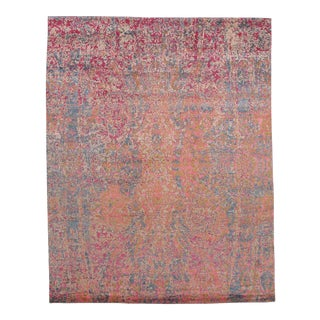 """Contemporary Pasargad N Y Modern Wool & Bamboo Silk Hand Knotted Area Rug - 7'11"""" X 9'11"""""""
