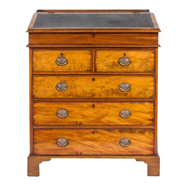George III Mahogany Standing Bureau For Sale - Image 4 of 4