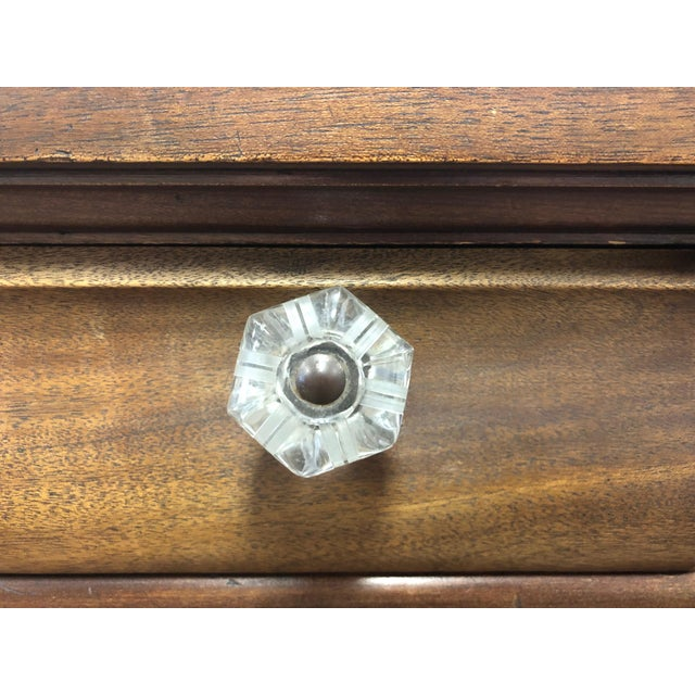 Wood 19th Century Early American Hersee Library Desk For Sale - Image 7 of 10
