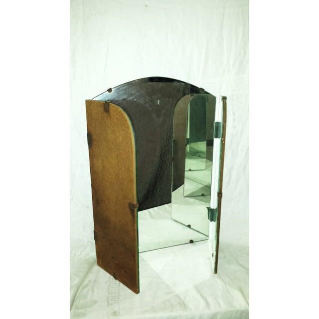 Art Deco Era Vintage Tri-Fold Vanity Mirror - Image 5 of 7