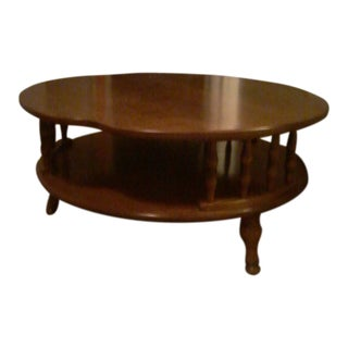 Ethan Allen Ameriana Walnut Round Living Room Table