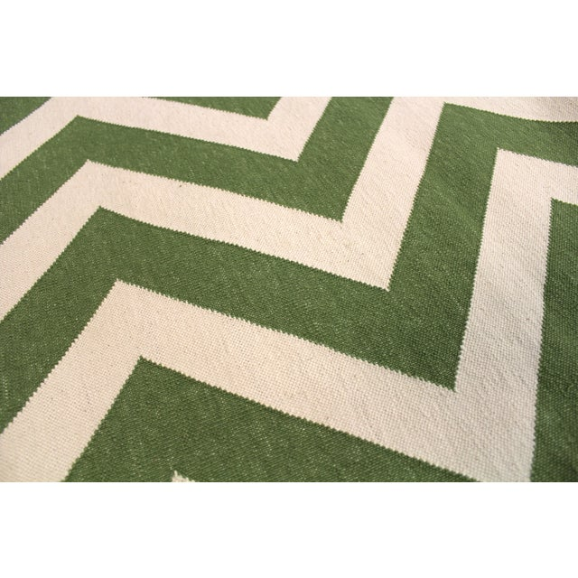"""Madeline Weinrib Green """"Lupe"""" Rug - 9' x 12' For Sale - Image 5 of 6"""