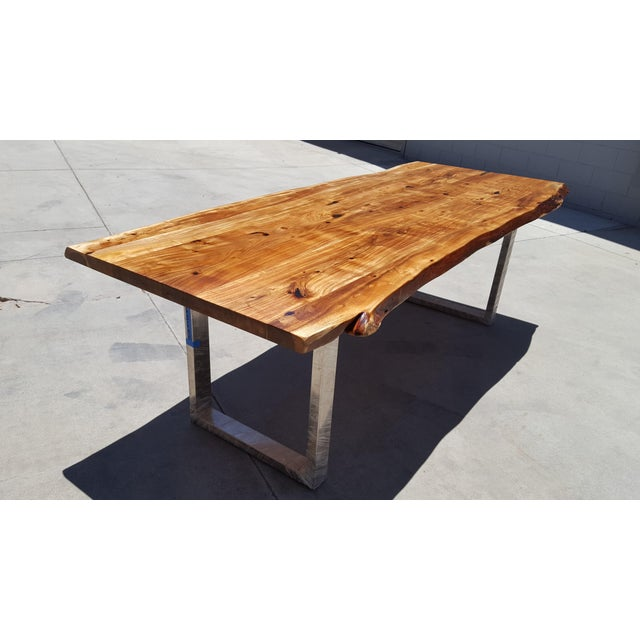 Acacia Wood Live Edge Dining Table - Image 6 of 9