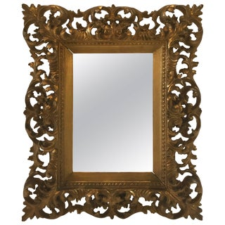 Ornate Italian Giltwood Frame For Sale