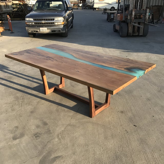 Wood & Resin River Table For Sale - Image 11 of 11