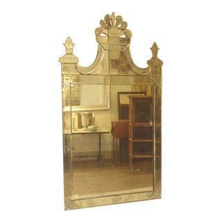 Vintage Venetian Glass Mirror For Sale