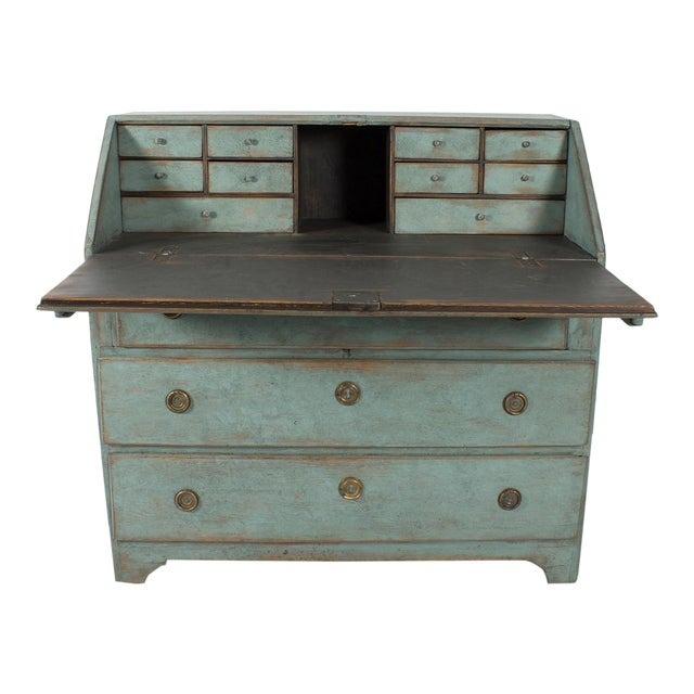 Blue-Painted Writing Desk For Sale