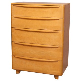 Mid-Century Modern Heywood Wakefield Encore Chest of Drawers in Wheat For Sale