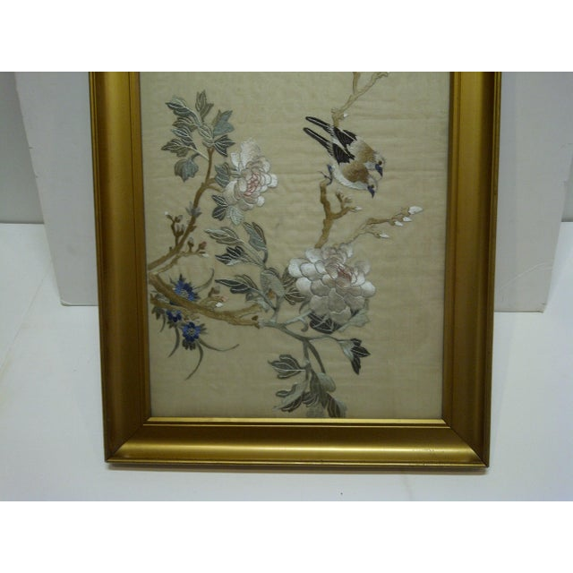 """""""Song Birds"""" Embroidery on Silk For Sale - Image 5 of 7"""