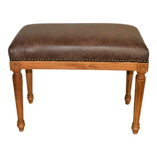 Louis XVI Style Light Wood Finish Bench For Sale
