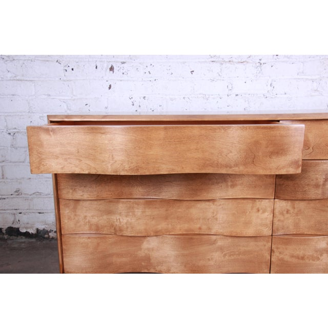 Birch Edmond Spence Wave Front Long Dresser For Sale - Image 7 of 11