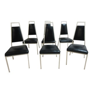 Vintage Frederick Weinberg Metal Dining Chairs - Set of 6 For Sale