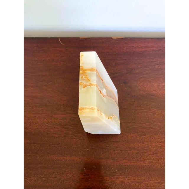 Vintage Alabaster Bookend For Sale In Seattle - Image 6 of 7