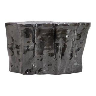 Covet Paris Eden Ceramic Black Side Table For Sale