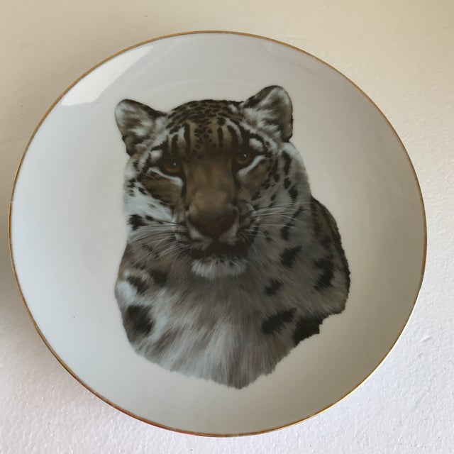 Vintage Handcrafted Lion Cougar Plates, Set of Four For Sale In Los Angeles - Image 6 of 10