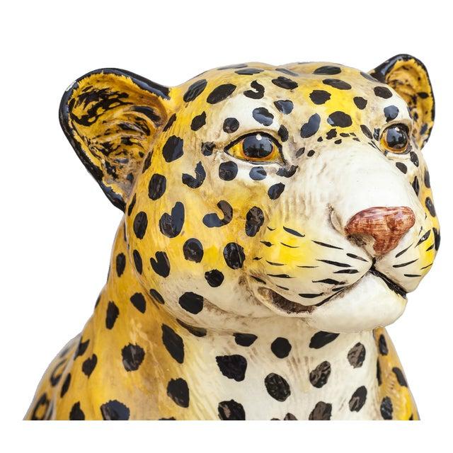 Mid-Century Ceramic Leopard - Image 7 of 10