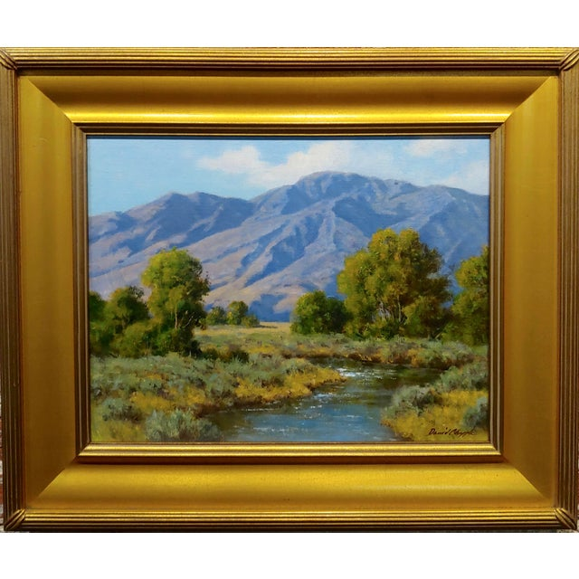 David Chapple -View of the Owens Valley - Oil Painting California Impressionist oil painting on canvas board -signed board...