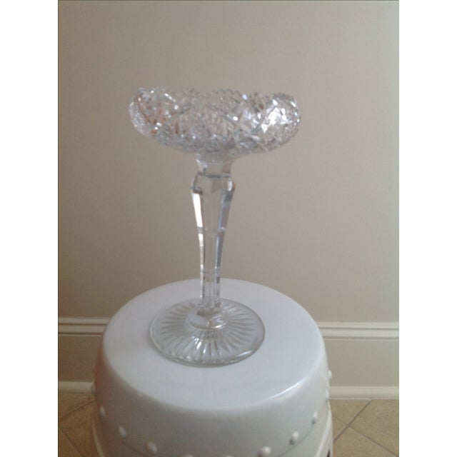 American Brilliant Cut Glass Compote - Image 4 of 6