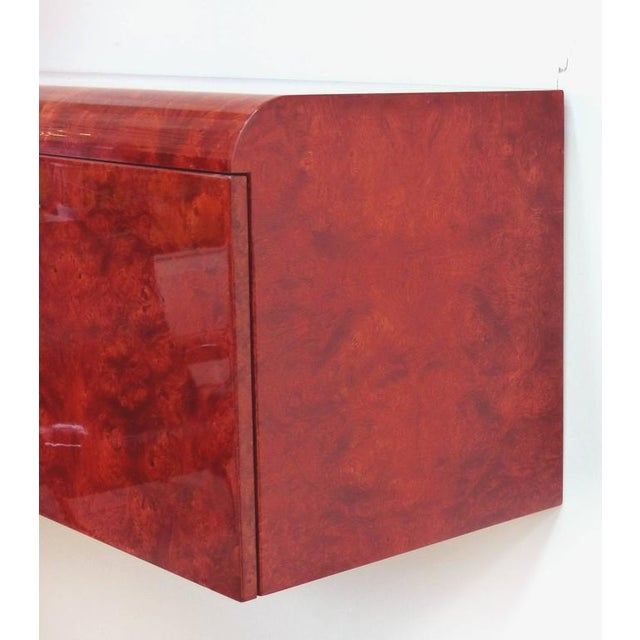 Mid-Century Modern Leon Rosen Pace Hanging Burl-Wood Credenza For Sale - Image 3 of 11