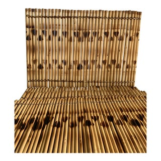 Natural Wood Bamboo Placemats, Set of Four For Sale