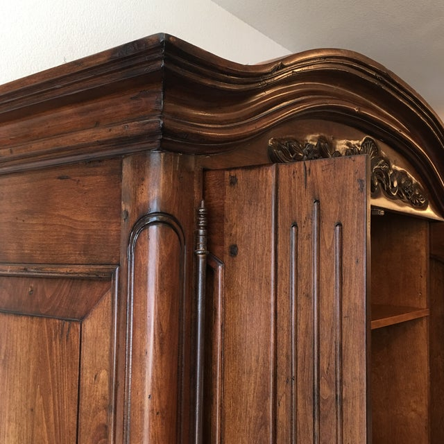 French Provincial Style Media Armoire Cabinet - Image 7 of 11