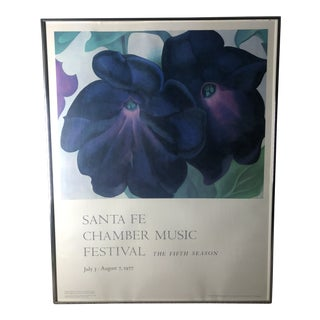1970's Vintage Santa Fe Chamber Music Festival Print by Georgia O'Keeffe For Sale