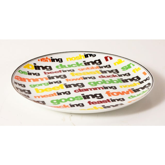Awesome and super colorful vintage c.1970's mid century modern / pop art style serving platter! It's a super fun way to...