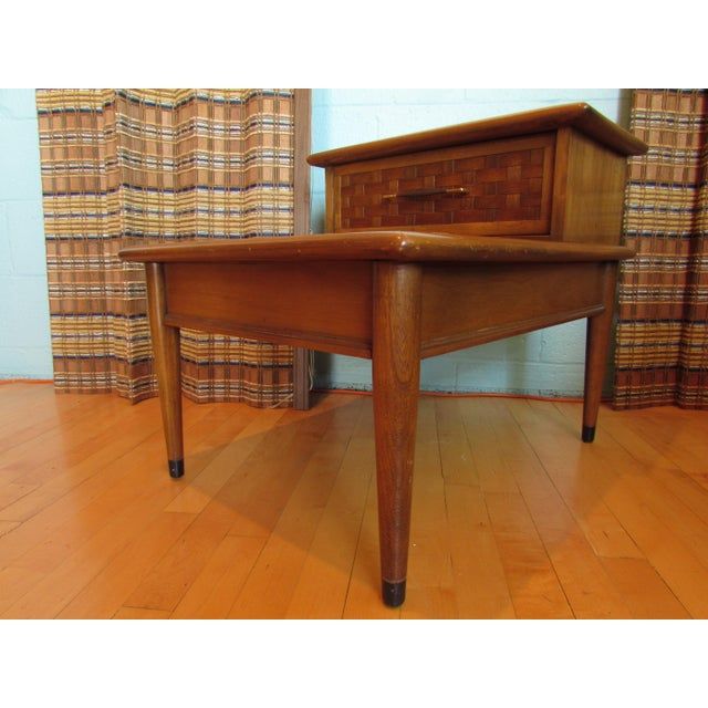 Mid-Century Walnut Two-Tiered End Table - Image 3 of 8