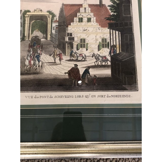 Mid 19th Century Antique Silver Framed Green Matted Bookplate Etchings - a Pair For Sale - Image 5 of 13