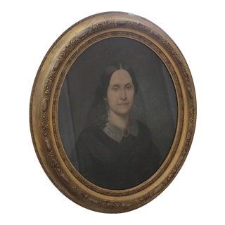 1858 Pastel Portrait of a Lady For Sale