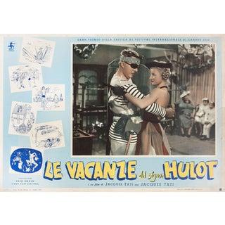 Mr. Hulot's Holiday 1958 Italian Fotobusta Film Poster For Sale