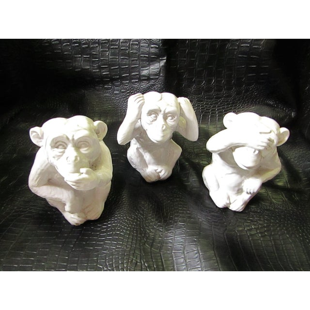 """Hear No, Speak No, See No Evil"" Monkey Statues - Set of 3 - Image 8 of 8"