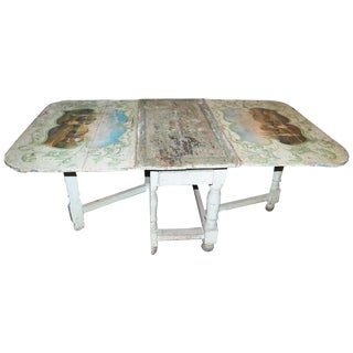 18th Century Painted French Gateleg Table