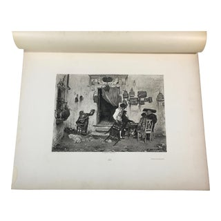 """1892 Antique Scene From Beaumarchais' """"The Barber of Seville"""" Photogravure Print For Sale"""