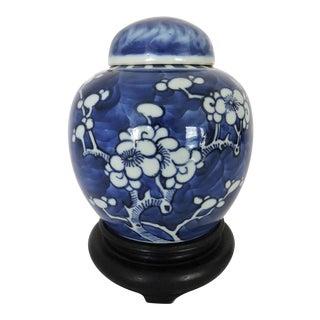 Blue & White 'Prunus' Ginger Jar