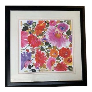 Kim Parker Framed Pastel Floral Giclee For Sale